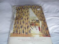 MONTGOMERY LINED PENCIL PLEAT CURTAINS (NEW)