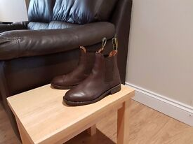 Tuffa Jodphur Boots Brown Leather Used Size 2 (Europe 35)