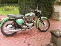 Classic 1961 BSA A7 Shooting Star in Metallic green