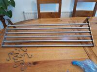 Ikea S/Steel wall mounted kitchen rack