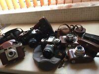6 old cameras