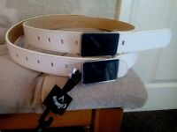 CALLAWAY LEATHER BELT X 2 FOR SALE.