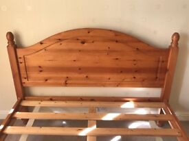 Solid wood antique pine double bed. In great condition good as new.