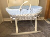 Moses Basket with stand & accessories