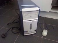 Advent 3111 PC Tower with mouse and power cable SPARES OR REPAIRS