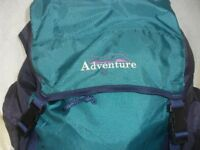 ADVENTURE VERY LARGE RUCKSACK - 5 COMPARTMENTS, PADDED BACK & STRAPS, LIGHTWEIGHT, VGC