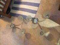 FREE Pair of three bulb light fittings