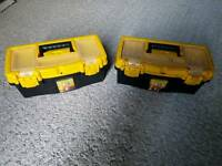2 Small Storage Boxes Tool Boxes
