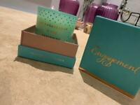 **SALE** Engagement candle & Messaged Box - Wedding engagement Gift