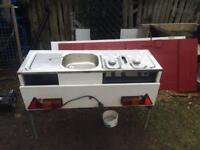 Hob, Grill And Sink For Trailer Tent/Camping