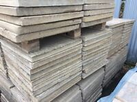 2 X 2 FT RECLAIMED RIBBED CONCRETE PAVING SLABS - LARGE STOCK.