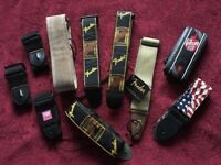 Guitar Straps - various colours and patterns