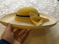 Cream and Yellow Jacque Vert Hat