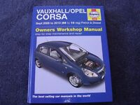 Workshop Manual for Vauxhall Corsa