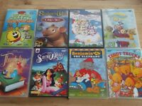 8 CHILDREN'S DVD'S