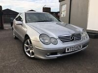 2003 * MERCEDES * C220 CDI COUPE * DIESEL * AUTOMATIC + MANUAL MODE * AIRCON * FULL MOT * F/S/H