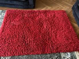 Red Pile Rug