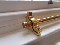 21 Solid Polished brass Premier Runner Stair Rods For Carpet Runner with all fixings.