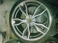 2017 AUDI TTS NEWEST ALLOY WHEELS GENUINE WHEELS NOT CHINESE COPY WITH LIKE NEW TYRES