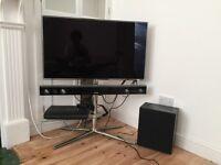 "Samsung 40"" LED smart 3D tv plus sound bar. TV plus sound bar."