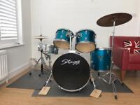 Drum kit 5 piece inc cymbals