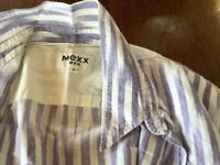 Vintage mans shirt, mauve and white