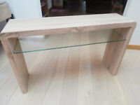 Console / TV table and shelf unit