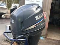 115hp 4 stroke yamaha outboard boat engine XL shaft