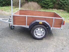 6x4foot galvanised trailer