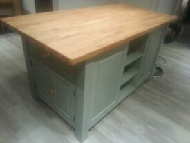 Solid Pine Island Unit, painted to your specification
