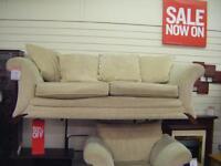 Biege fabric suite 3+1+footstool