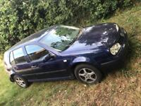 "Breaking mk4 golf LB5N indigo blue 1.6 Petrol 15"" alloys with tyres lamps etc Bora bonnet wings"