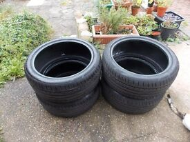 4x 235/40 r18 tyres Excelon Performance UHP W95 XL nearly new 8mm tread.