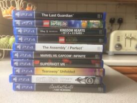 Various PS4 Games including VR-all in great condition and priced for a quick sale!