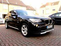 BMW X1 20D SE XDRIVE AUTOMATIC 5 DOOR FSH HPI CLEAR SATNAV 2 KEYS EXCELLENT CONDITION
