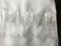 Crystal Sherry glasses (large schooner)