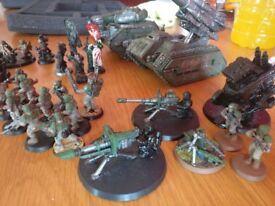 Warhammer 40K Imperial Guard / Astra Militarum Army & Case