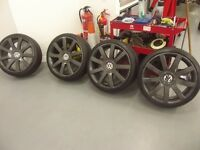 19 inch Alloys 4 Wheels Audi VW Seat Skoda Mercedes 5 x 100 5 x 112 with new tyres just fitted