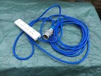 Camping Hook Up Cable to 4 way