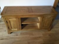 Oak Furniture Land Orrick Rustic Solid Oak Large TV Unit RRP £380