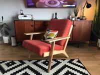 Hans J Wegner GE290 style plank chair