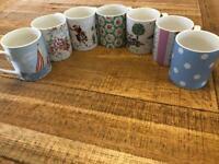 7x Small Cath Kidston Mugs by Churchill - fine china