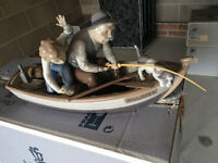 lladro ornament ..fishing with gramps