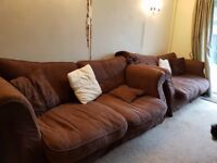 DFS Sofas - Large and very comfortable - washable covers.