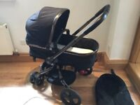 Mothercare orb pram to pushchair 2-1 black