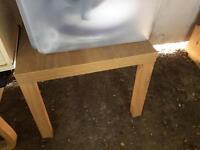 FREE small square oak effect IKEA table