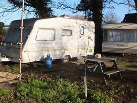 Caravan in quiet rural location