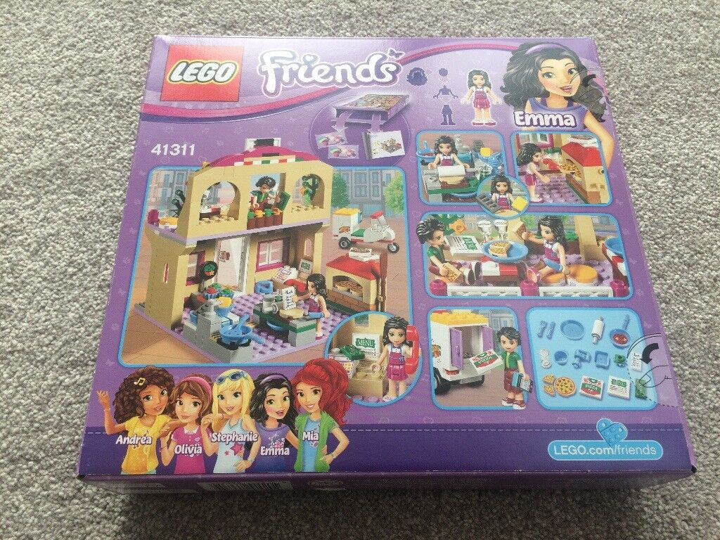 Lego Friends Emma And Oliver Pizzeria Set 41311 New Unopened