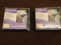2 BRAND NEW IN PACK CONNI SLEEP DRY MATTRESS PROTECTORS