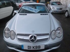 Mercedes SL500 Auto,4966 cc hard top Convertible,full MOT,heated black leather interior,only 69k